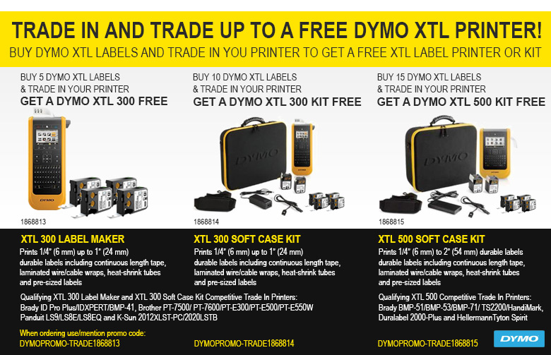 5ce2979e79fb DWG DYMO Promotion: Get a FREE XTL Printer When You Buy XTL Labels ...