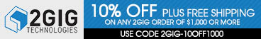 2GIG 5% Off and Free Shipping!