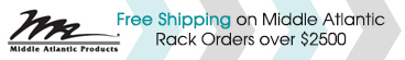 Middle Atlantic Free Shipping