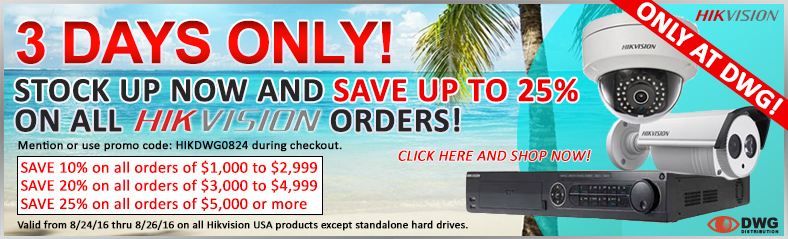 Hikvision Save Up to 25% on All Orders