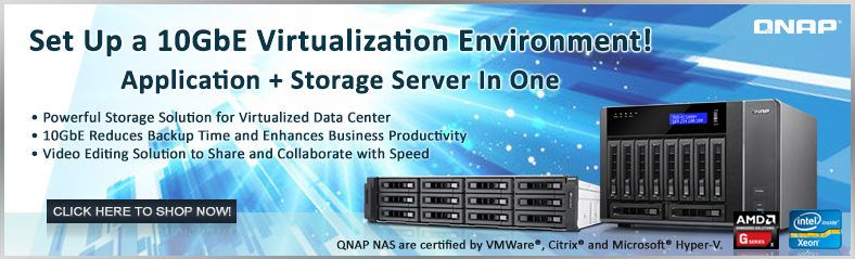 QNAP Built-in 10GbE NAS